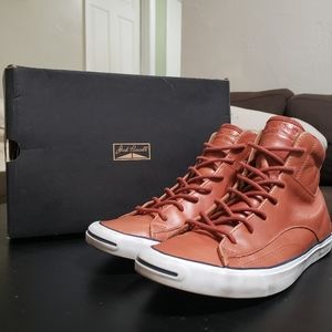 Jack Purcell Racearound Mid Leather Oak White